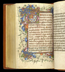 Illuminated Initial With The Arms Of Hamelden, In 'The Hamelden Hours'